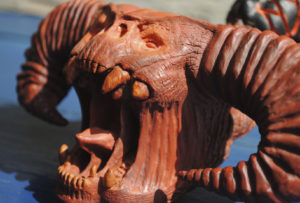 Balrog pipe - carved from briar wood
