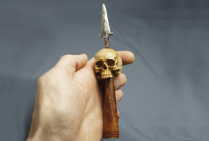 Skull - Wood Carved Pipe Tamper