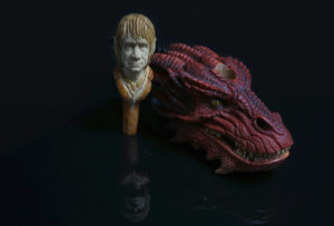 Smaug - carved briar pipe