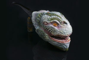 World Serpent pipe - Carved from briar wood