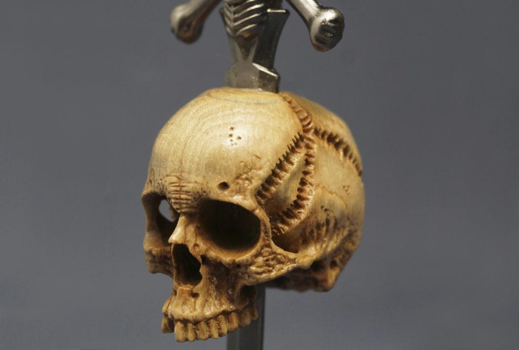 Skull with Sword — Pipe Tamper