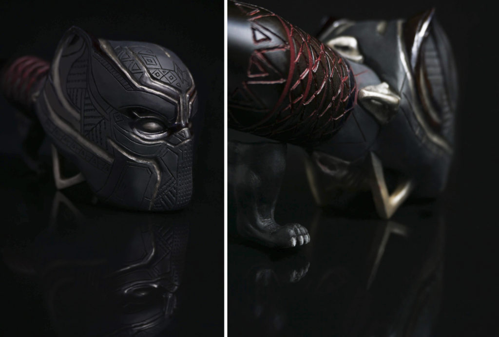 Black Panther — carved briar pipe