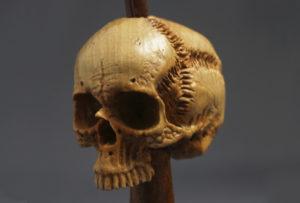 Skull - Wood Carved Pipe Tamper