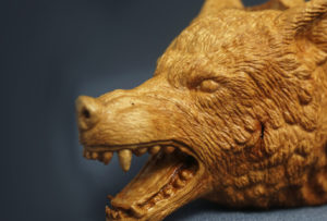 Fenrir Wolf — carved briar pipe