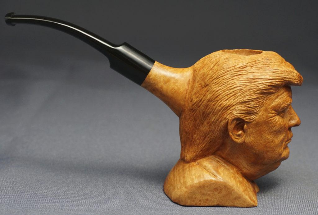 Donald Trump — Carved Briar Pipe