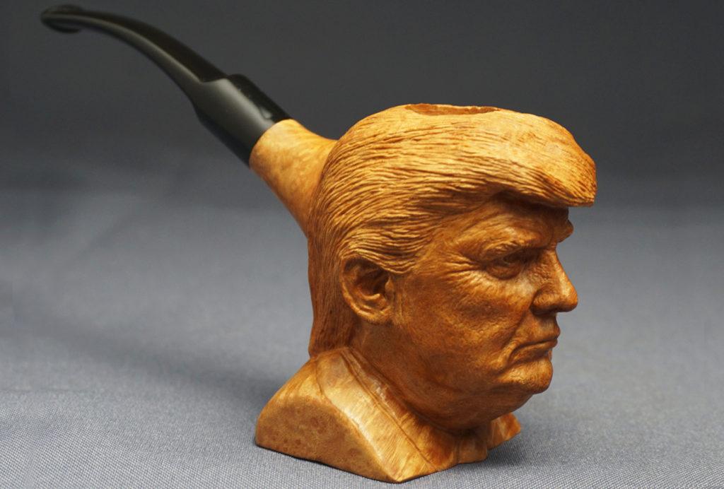 Donald Trump — Carved Briar Pipe