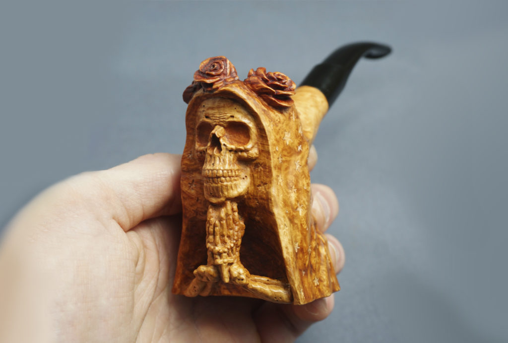 Santa Muerte - smoking briar pipe