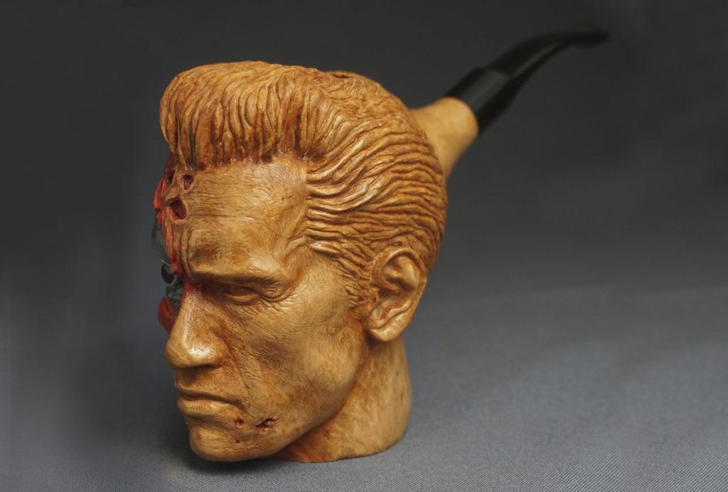 Terminator pipe — gift for Arnold Schwarzenegger