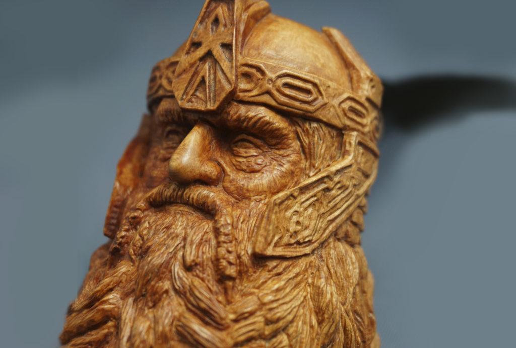 Gimli - Carved Briar Wood