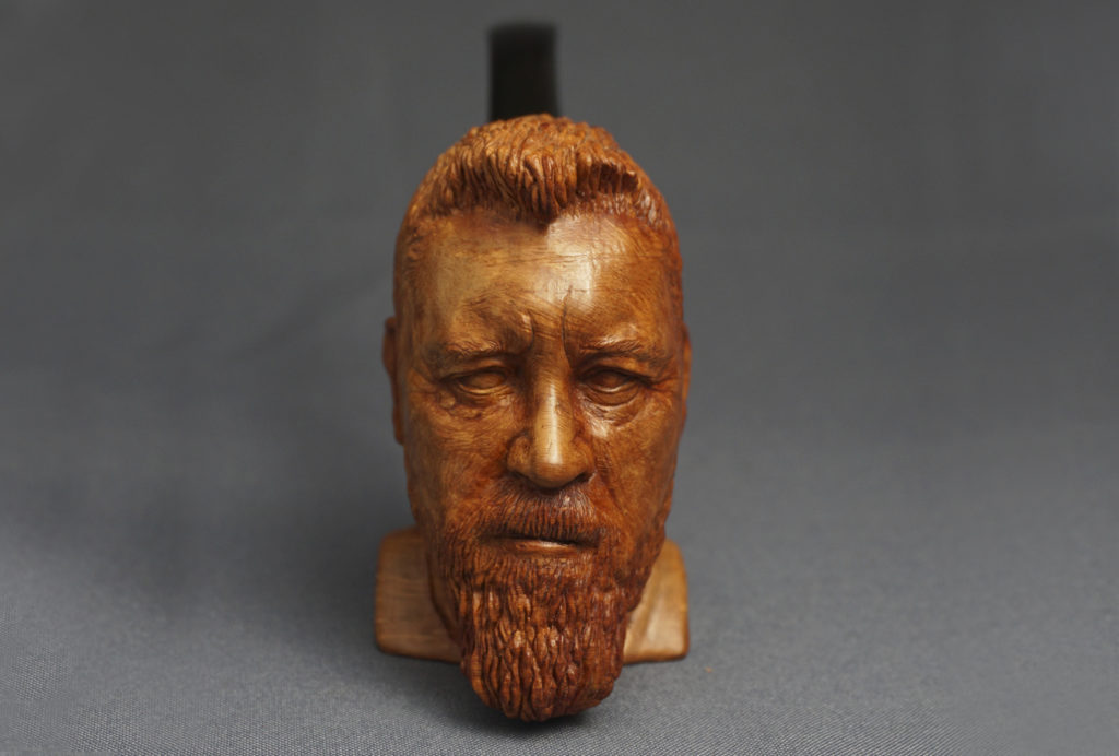Portrait Pipe - Carved from Briar