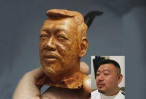 Wooden Portrait pipe